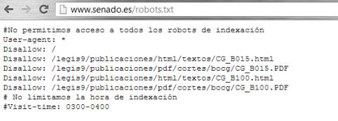 robots senado