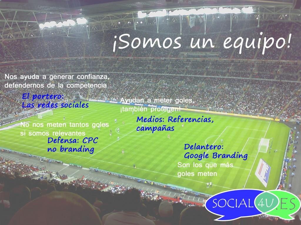 Metáfora de @sorprendida. Conseguir conversión es como la estrategia de un equipo de fútbol