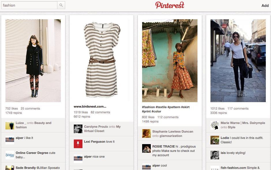 Influencia de Pinterest en comercio electrónico
