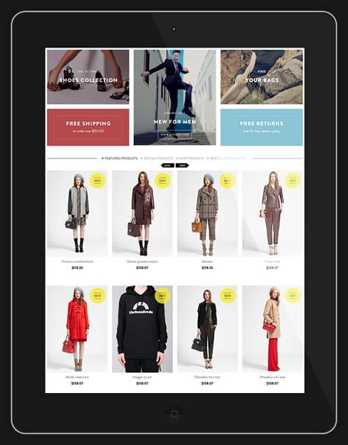 diseño responsive de tienda online