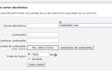 crear cuenta email en cpanel