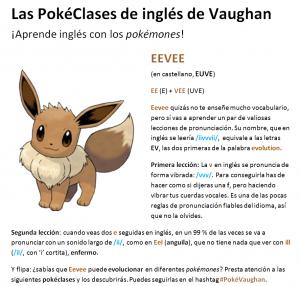aprende inglés con Pokemon