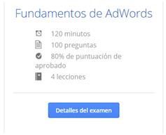 obtención certificado google adwords