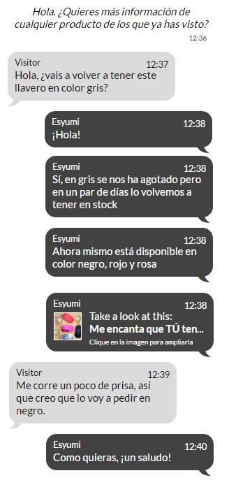 conversacion chat con cliente
