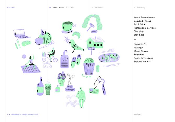web con ilustraciones