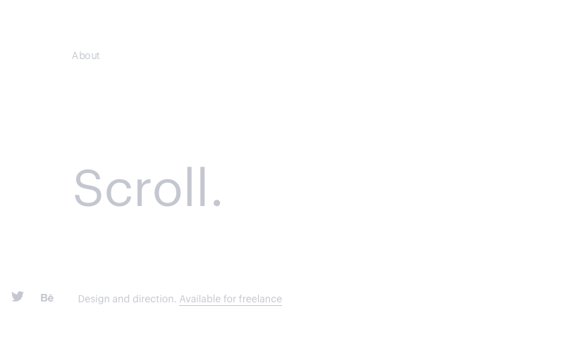 web ultra minimalista