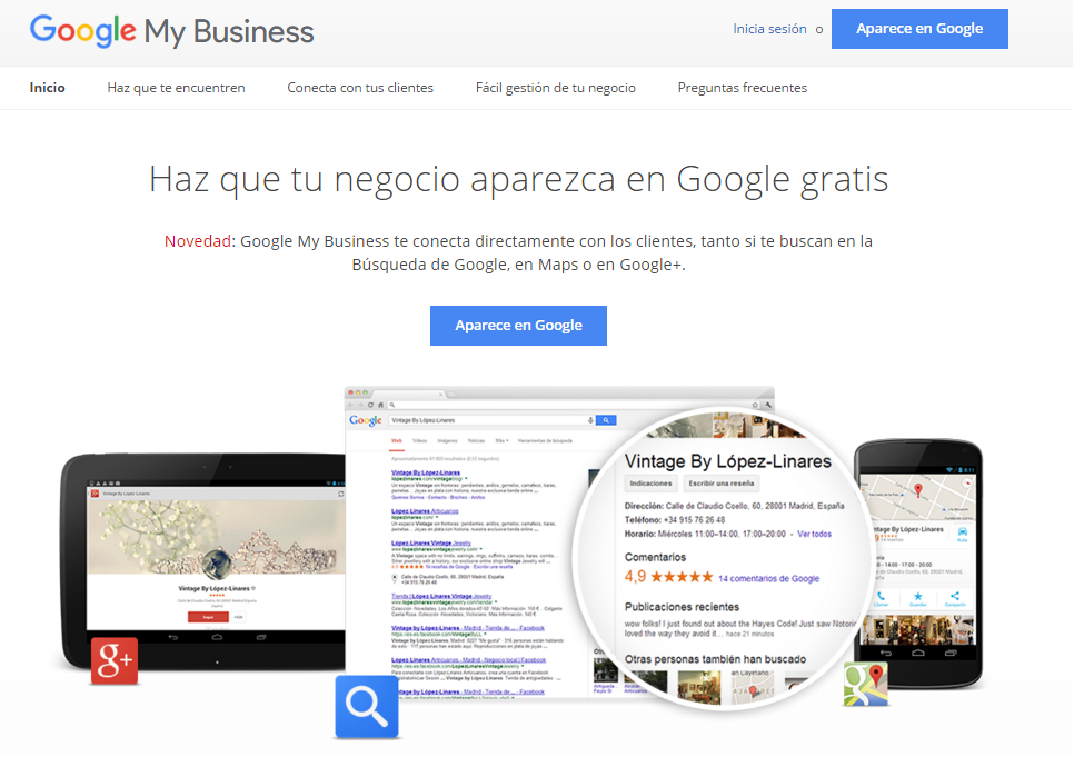 alta en Google My Business